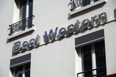 Exterior del hotel de Best Western imagen de archivo