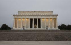 Exterior del Lincoln memorial foto de archivo