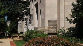 Exterior del nosotros edificio del departamento de la justicia en Washington