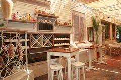 Exterior del restaurante Foto de archivo libre de regalías