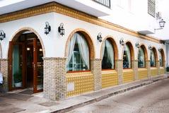 Exterior del restaurante Foto de archivo