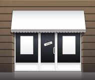 Exterior del vector del frente de la tienda del café del restaurante Fotografía de archivo