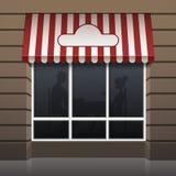 Exterior del vector del frente del café del restaurante Imagenes de archivo