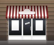 Exterior del vector del frente del café del restaurante Foto de archivo libre de regalías