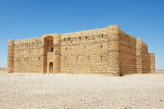 Exterior of the desert castle Qasr Kharana (Kharanah or Harrana) near Amman, Jordan. Stock Photography