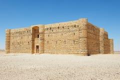 Exterior of the desert castle Qasr Kharana (Kharanah or Harrana) near Amman, Jordan. Stock Photography