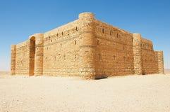 Exterior of the desert castle Qasr Kharana Kharanah or Harrana near Amman, Jordan. Stock Images
