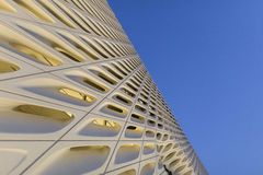 Exterior Detail of The Broad Contemporary Art Museum at Twilight Royalty Free Stock Photography