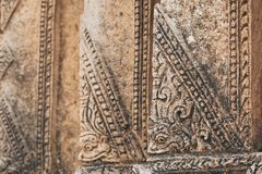Exterior detail of Burmese Buddhist temple in Bagan, Myanmar. Ornament, burma, asia, southeast, stupa, pagoda, interior, architecture, buddhism, buddha royalty free stock photos