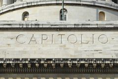 Exterior detail of the Capitolio buildingin Havana, Cuba. Stock Image