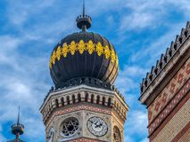 Exterior detail of the Great Synagogue in Dohany Street, Budapest, Hungary stock photography