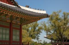 Exterior Detail - Gyeongbokgung Palace, Seoul, South Korea royalty free stock images