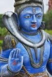Exterior detail of the Shiva statue at Ganga Talao (Grand Bassin) Hindu temple, Mauritius. Stock Images