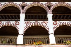 Exterior details of famous Rila Monastery Stock Photography
