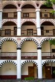Exterior details of famous Rila Monastery Royalty Free Stock Image