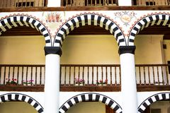 Exterior details of famous Rila Monastery Royalty Free Stock Photography