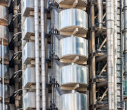 Exterior details of Lloyds Building in London Royalty Free Stock Photography