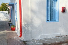Exterior details of traditional rural Greek house Royalty Free Stock Photo