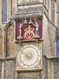 Wells Cathedral Clock Stock Image
