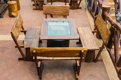Exterior dining table Stock Photos