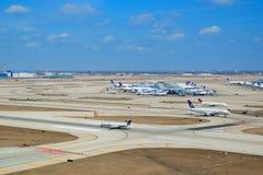Exterior do aeroporto de Chicago Imagens de Stock Royalty Free