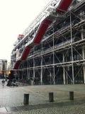 Exterior do centro Georges Pompidou fotografia de stock