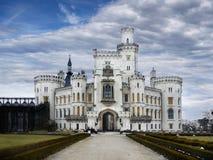 Exterior do conto de fadas do marco de Hluboka do castelo Fotografia de Stock
