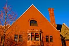 Exterior do edifício da faculdade imagens de stock royalty free