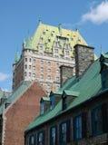 Exterior do hotel de Frontenac do castelo Fotografia de Stock Royalty Free