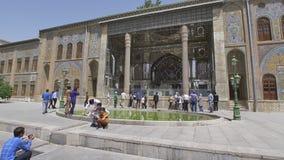 Exterior do palácio de Golestan video estoque