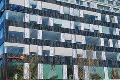 Exterior do prédio de escritórios moderno em Éstocolmo, Suécia Fotos de Stock Royalty Free