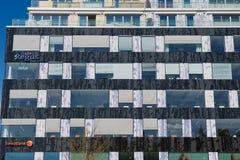 Exterior do prédio de escritórios moderno em Éstocolmo, Suécia Foto de Stock Royalty Free
