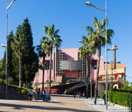 Exterior do teatro municipal de Martos andalusia imagens de stock royalty free