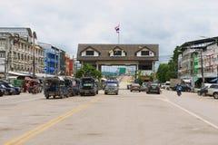 Exterior do terminal da beira de Tailandês-Myanmar em Mae Sot, Tailândia Foto de Stock Royalty Free