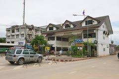 Exterior do terminal da beira de Tailandês-Myanmar em Mae Sot, Tailândia Imagens de Stock