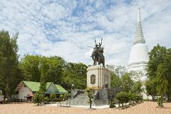 Exterior of the Don Chedi monument in Suphan Buri, Thailand. Royalty Free Stock Images