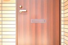 Exterior door. Handle and Security lock Royalty Free Stock Photos
