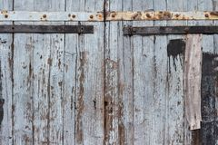 Doors of an old wooden barn royalty free stock photography