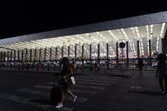 Exterior dos términos do estação de caminhos de ferro, Roma, Itália foto de stock royalty free