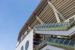 Exterior Dutch soccer stadium at Amsterdam Royalty Free Stock Image