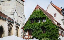 Exterior e dianteiro de uma casa alemão velha bonita Imagens de Stock Royalty Free