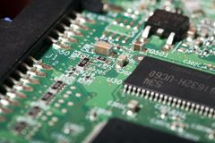 Hard Drive Electronic Board Stock Image