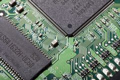 Hard Drive Electronic Board Royalty Free Stock Photography