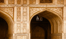 Exterior elements of building - arch. India, Agra Stock Image