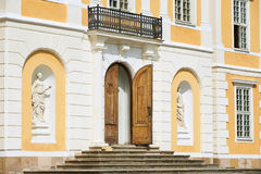 Exterior of the entrance to the baroque Steninge Palace (Steninge Manor) outside of Stockholm, Sweden. Stock Images
