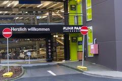 Exterior entrance to the shopping center Ruhr Park Royalty Free Stock Photos