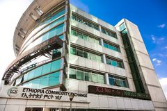 Exterior of the Ethiopia Commodity Exchange Building royalty free stock photos