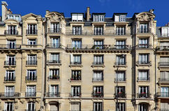 Exterior facade of apartment building Royalty Free Stock Images