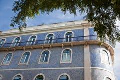 Exterior facade of an Art Deco style building Royalty Free Stock Photography