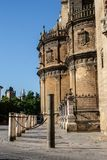 Exterior facade of the Cathedral of Seville. Capital of Andalusia Stock Photos